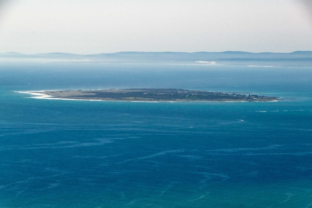 3 Days in Cape Town: View of Robben Island from Shore