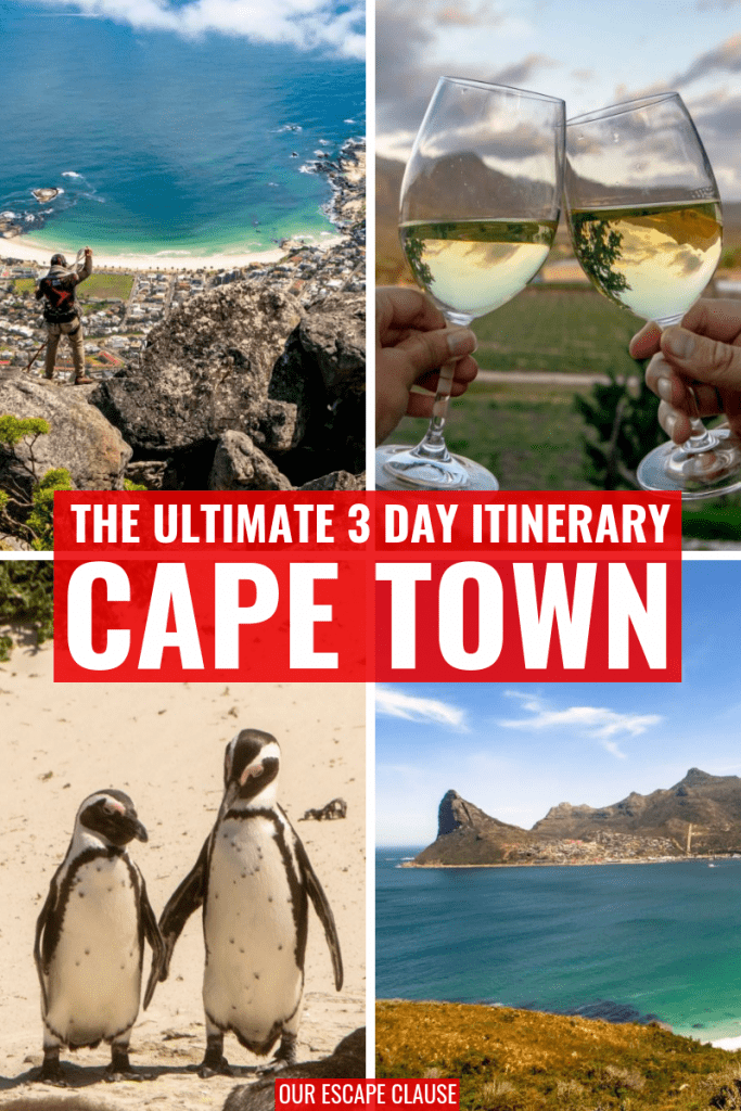 3 Day Cape Town Itinerary: The Complete Guide #capetown #southafrica #travel #travelsouthafrica #travelcapetown #penguins #bouldersbeach
