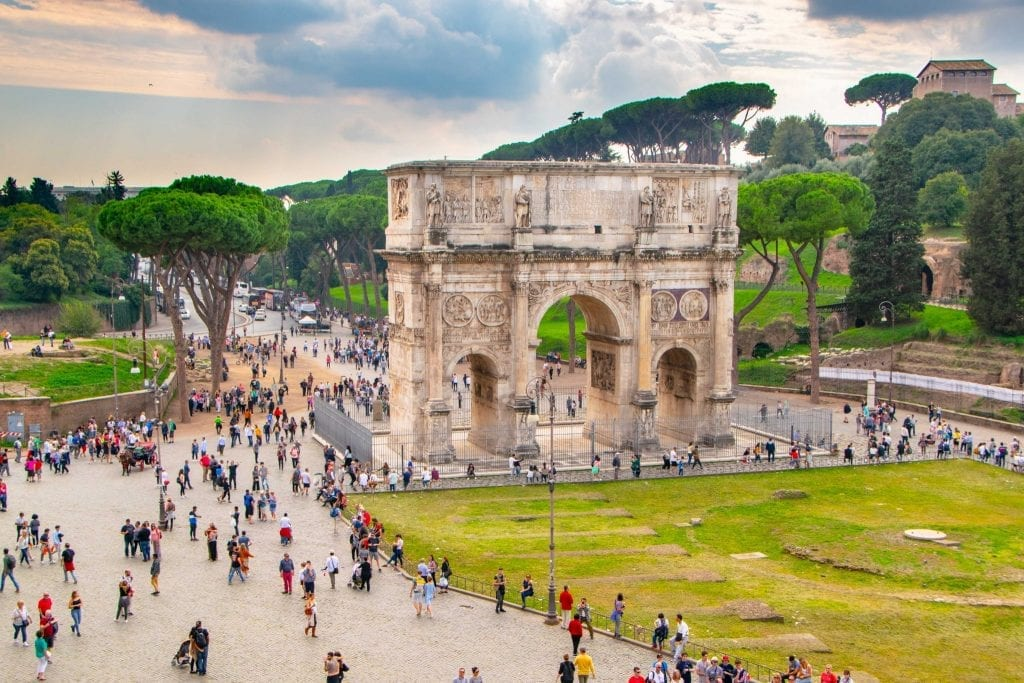Arch of Titus as seen from Colosseum, Rome in a Day