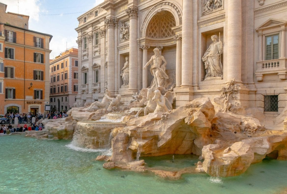 2 Days in Rome Itinerary: Trevi Fountain