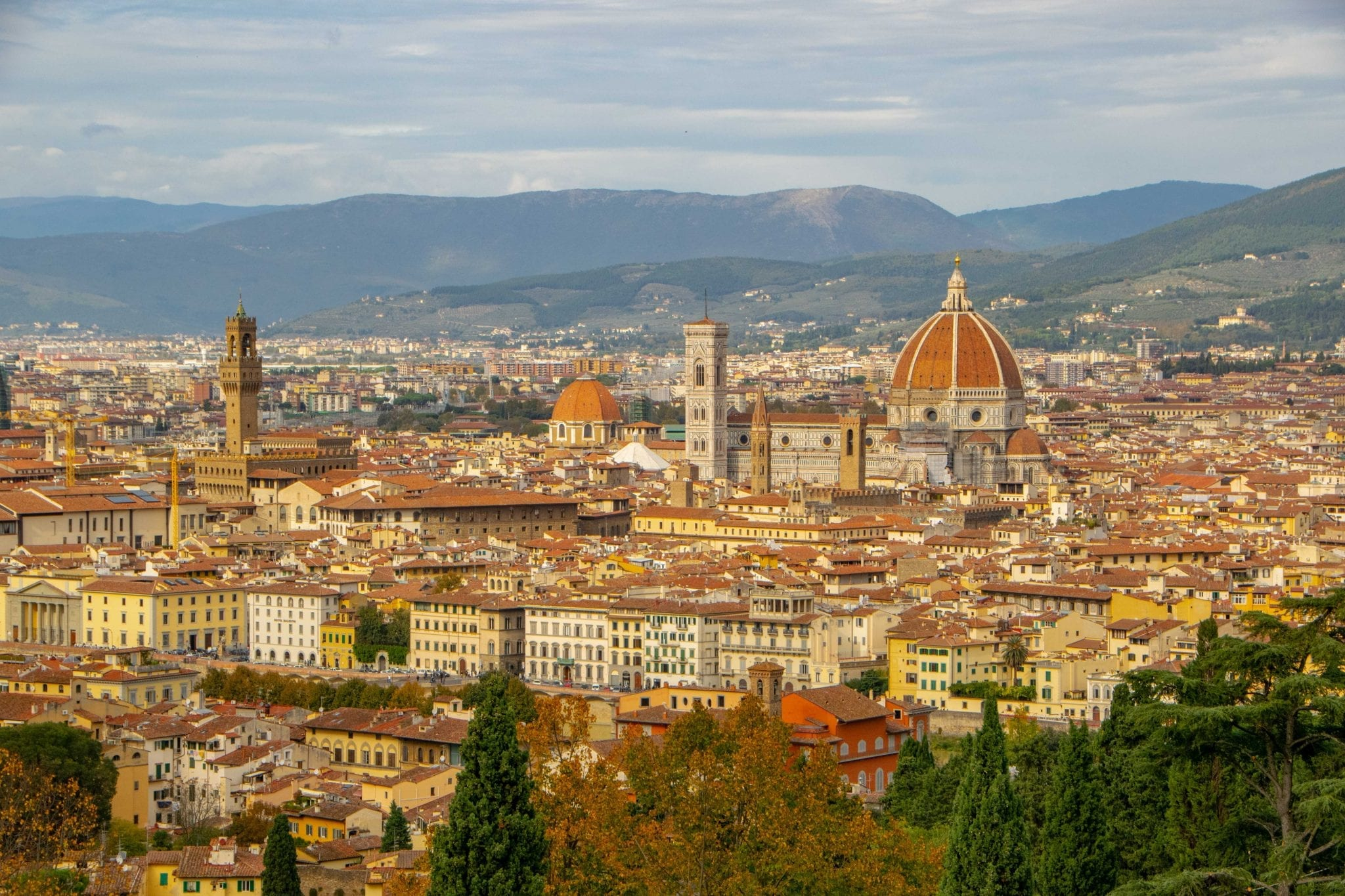 Day Trip to Florence from Rome: View of Duomo from Piazzale Michelangelo
