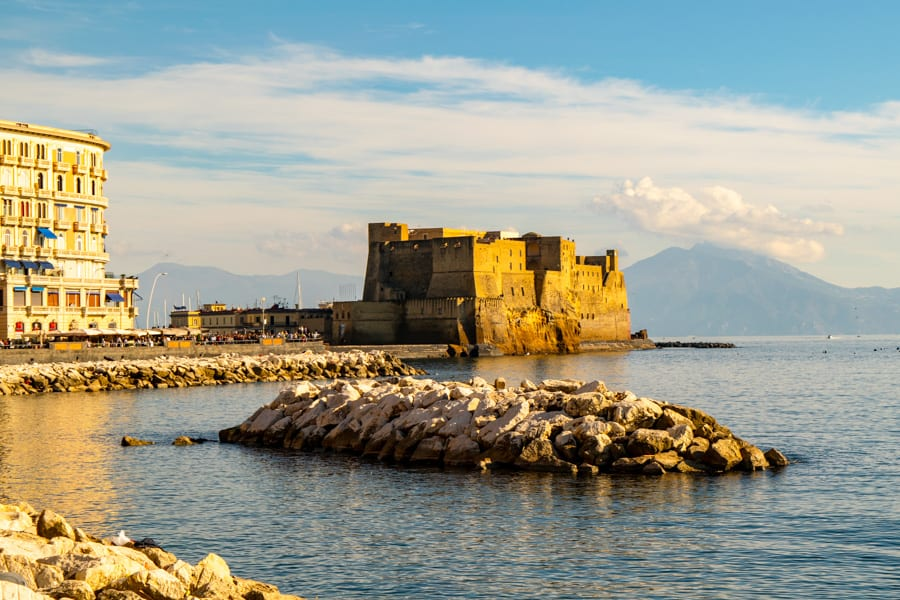 One Day in Naples Itinerary: view of Castel dell'Ovo