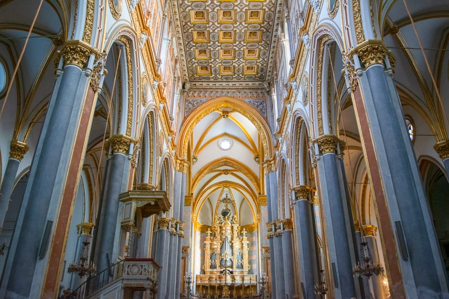 One Day Naples Itinerary: San Domenico Maggiore Church Interior