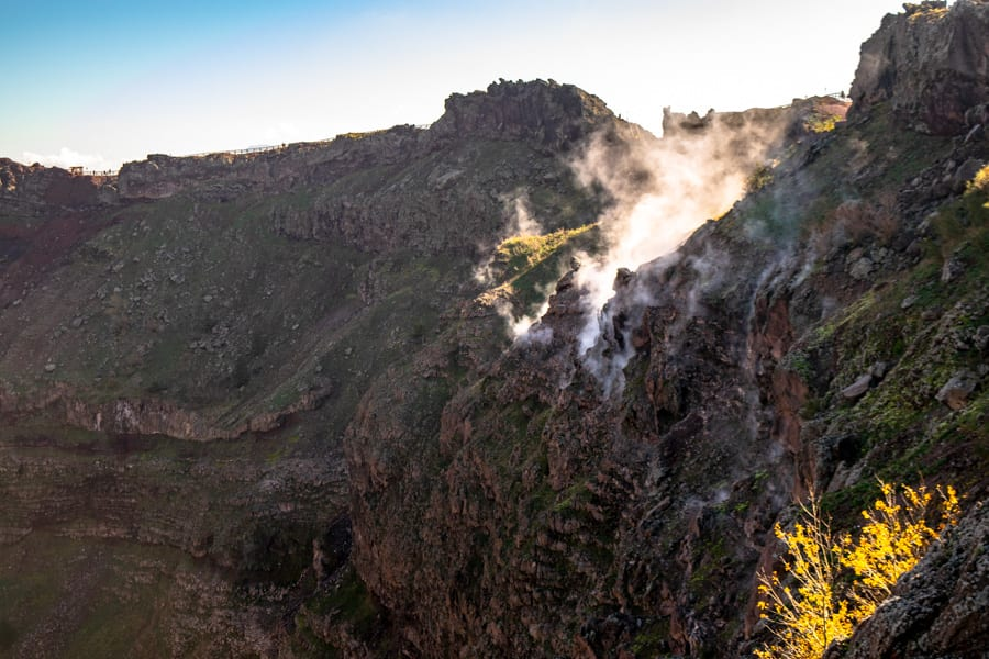 Visiting Mount Vesuvius: Smoking Crater