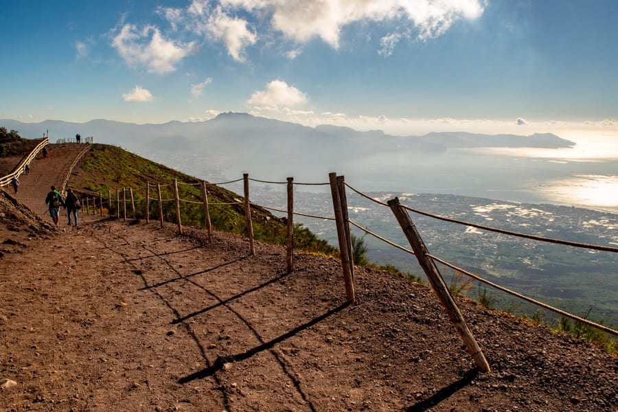 Visiting Mount Vesuvius: View of Crater Trail