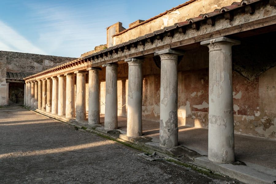 Visiting Pompeii and Mount Vesuvius: Columns of Pompeii