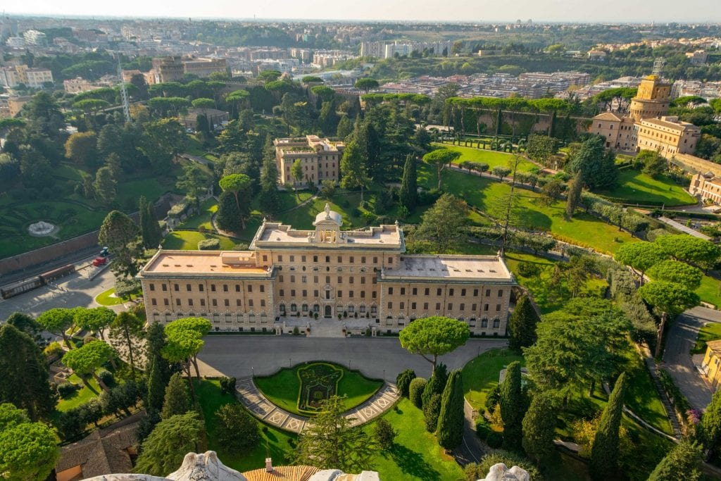 Portion of the Vatican Gardens as seen from above