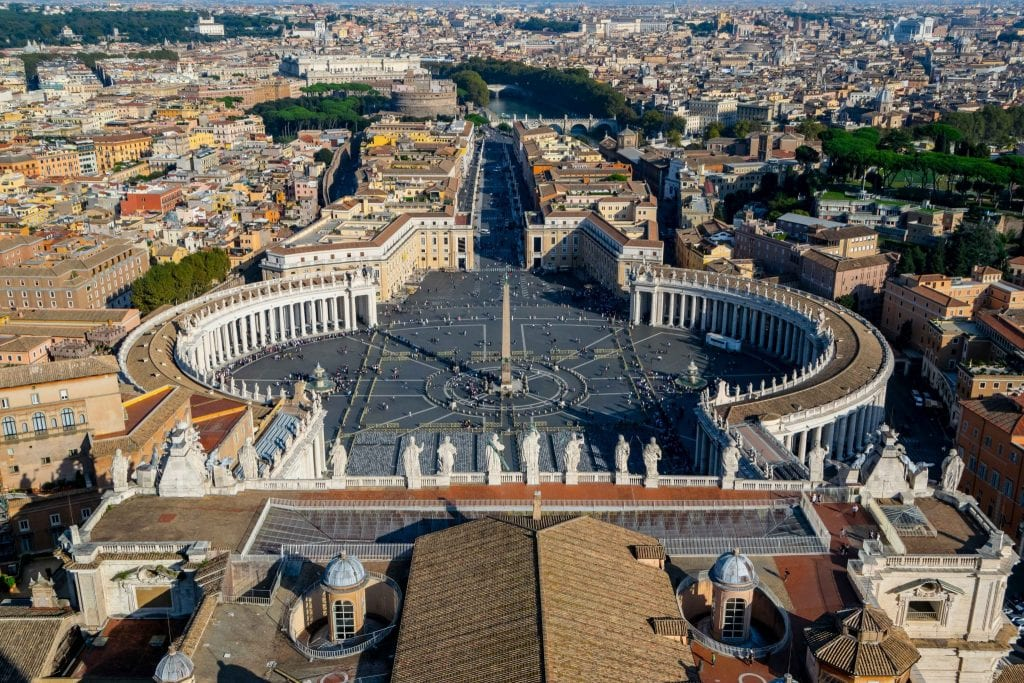 St. Peter's Square from above, Rome in One Day - Rome in a Day