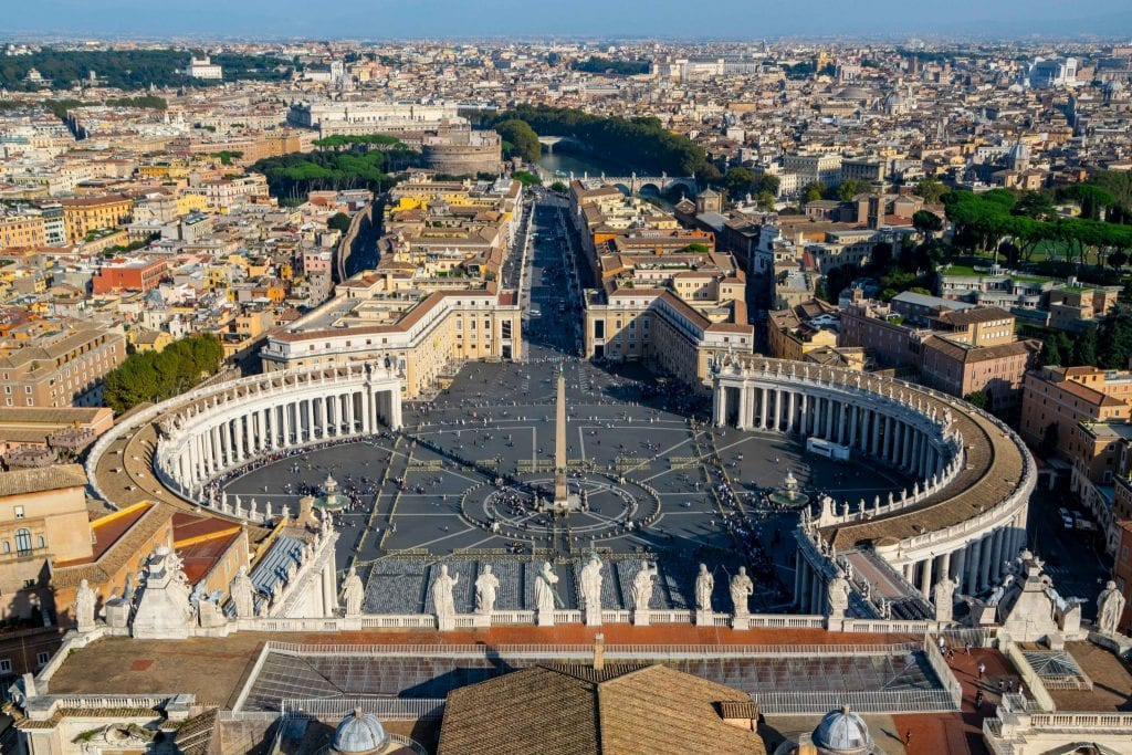 Trip to Italy Cost: St Peters Square