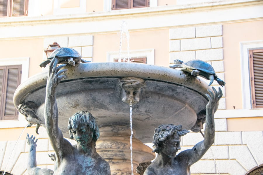 Piazzas in Rome: Piazza Mattei Turtle Fountain