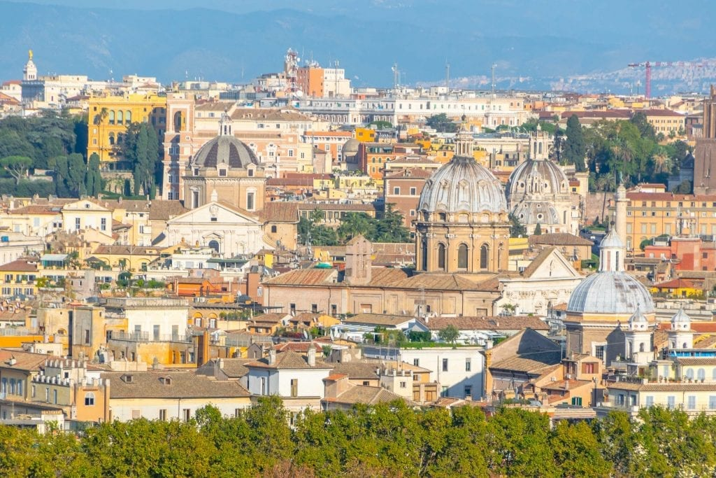 Hidden Gems in Rome: View of Rome from Janiculum Terrace