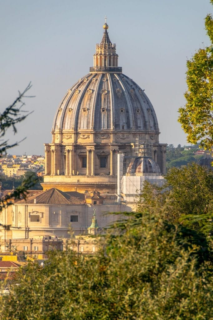 4 Day Rome Itinerary: view of St. Peter's Basilica