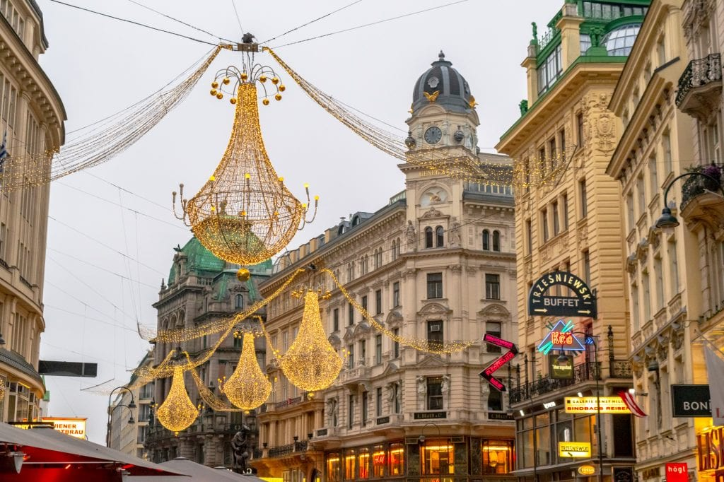 Austria Christmas Market Trip: Christmas Lights in Vienna