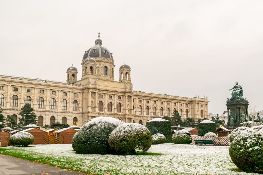 Prague Vienna Budapest Central Europe Itinerary: Snow in Vienna