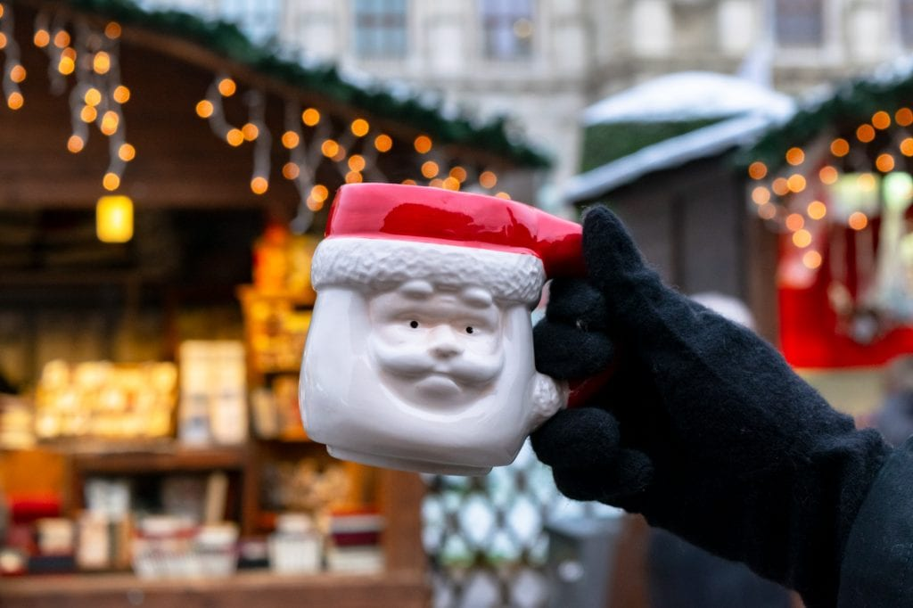 Santa Mug at Austria Christmas market
