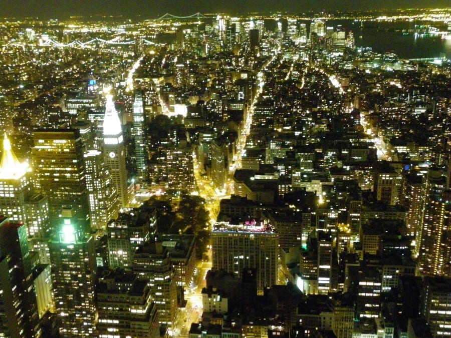 Romantic Getaways in USA: View from Empire State Building