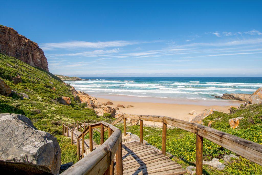 beautiful beach along garden route south africa
