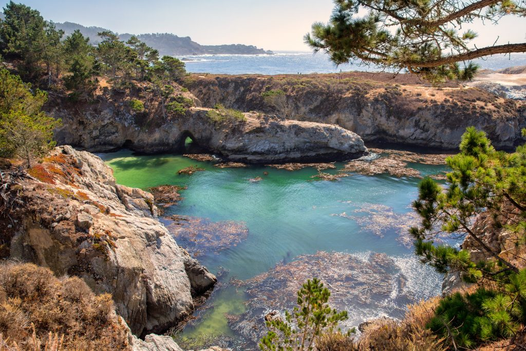 cove beach in carmel by the sea, one of the most romantic places in usa for couples