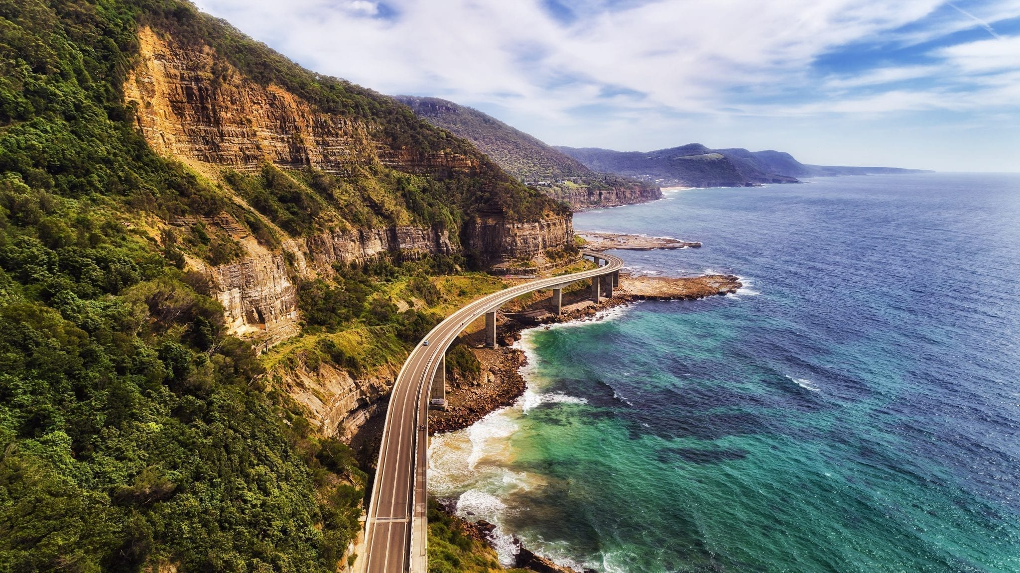 Pacific Coast Highway California shot from above, one of the best romantic vacations for couples in the United States