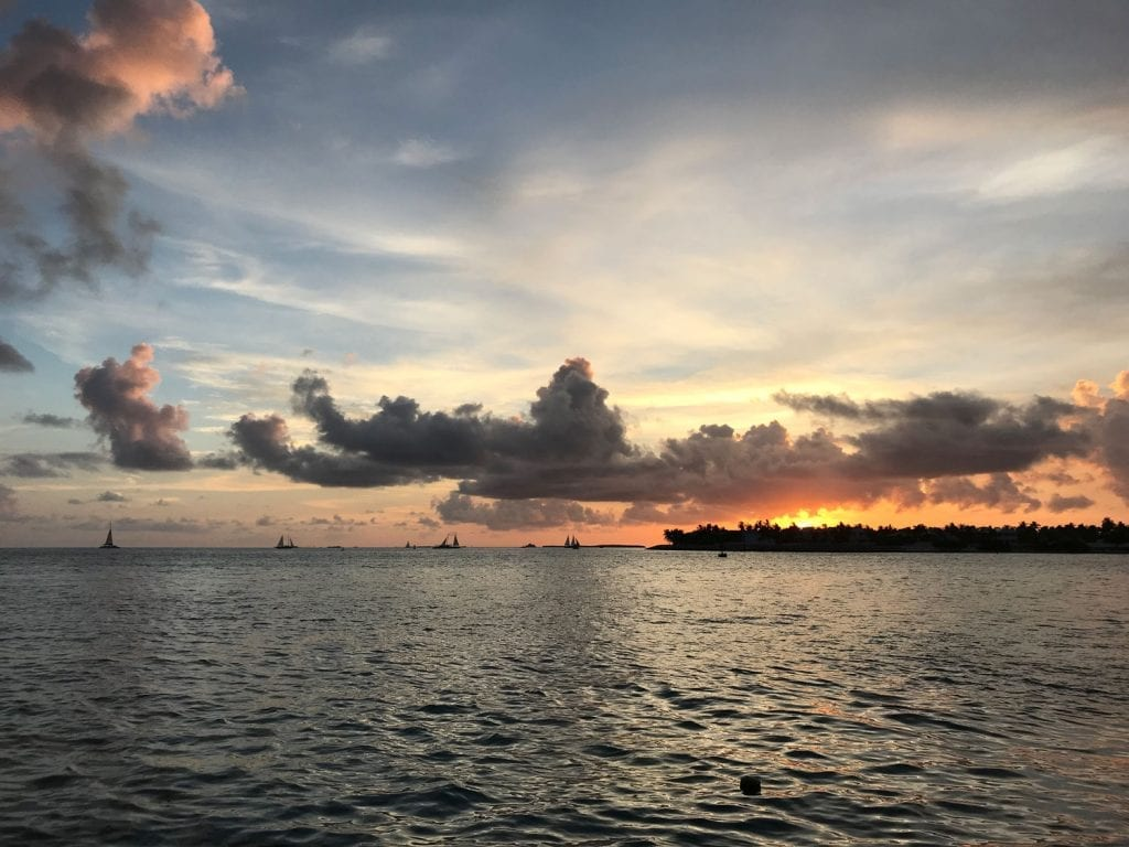 Romantic Getaways in USA: Sunset at Key West