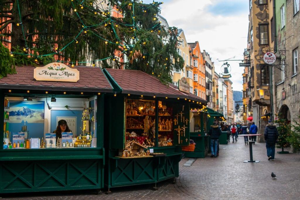 Austria Christmas Market Trip: Stalls at Innsbruck Christmas Market