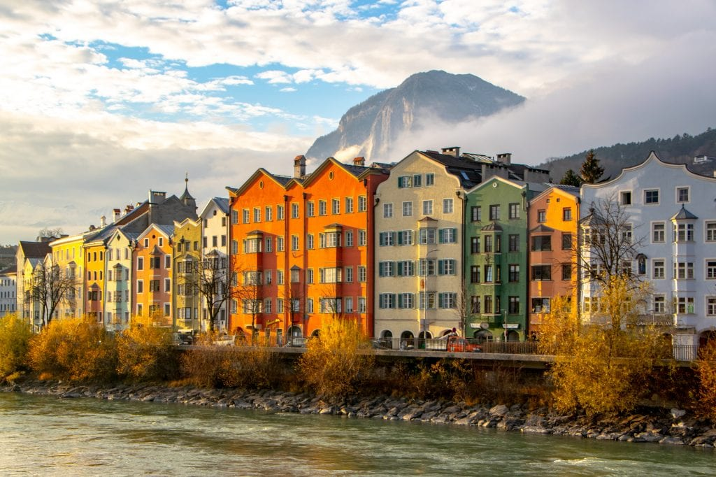Austria Christmas Market Trip: Innsbruck Houses in December