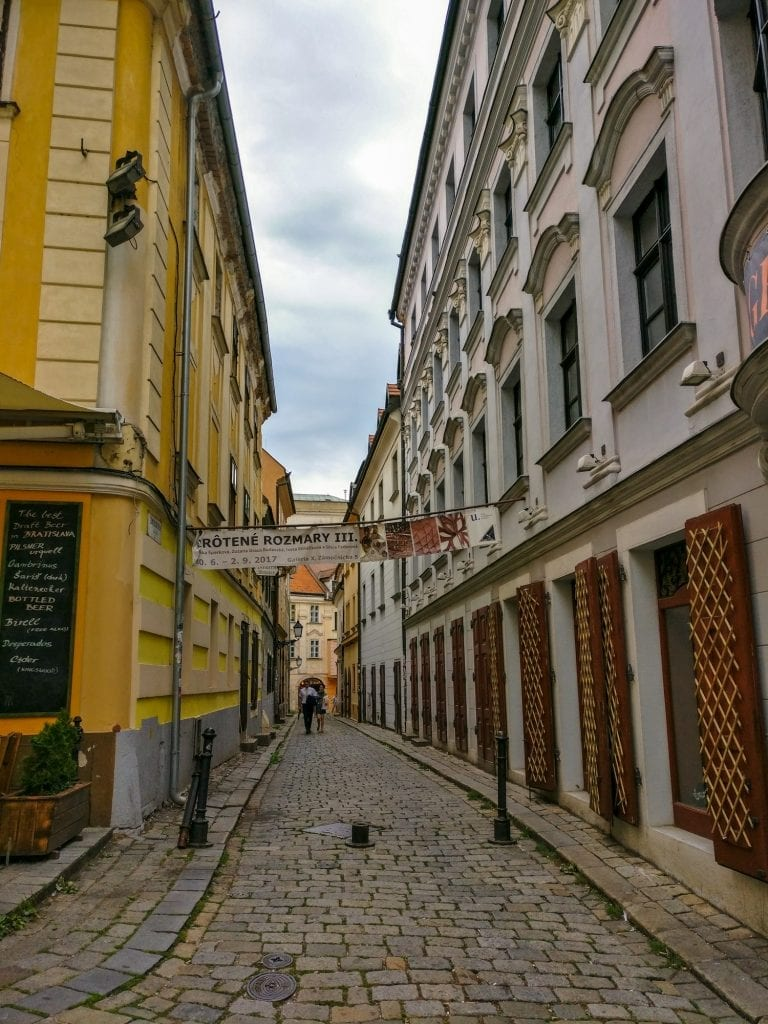 Central Europe Itinerary: Side Street Bratislava