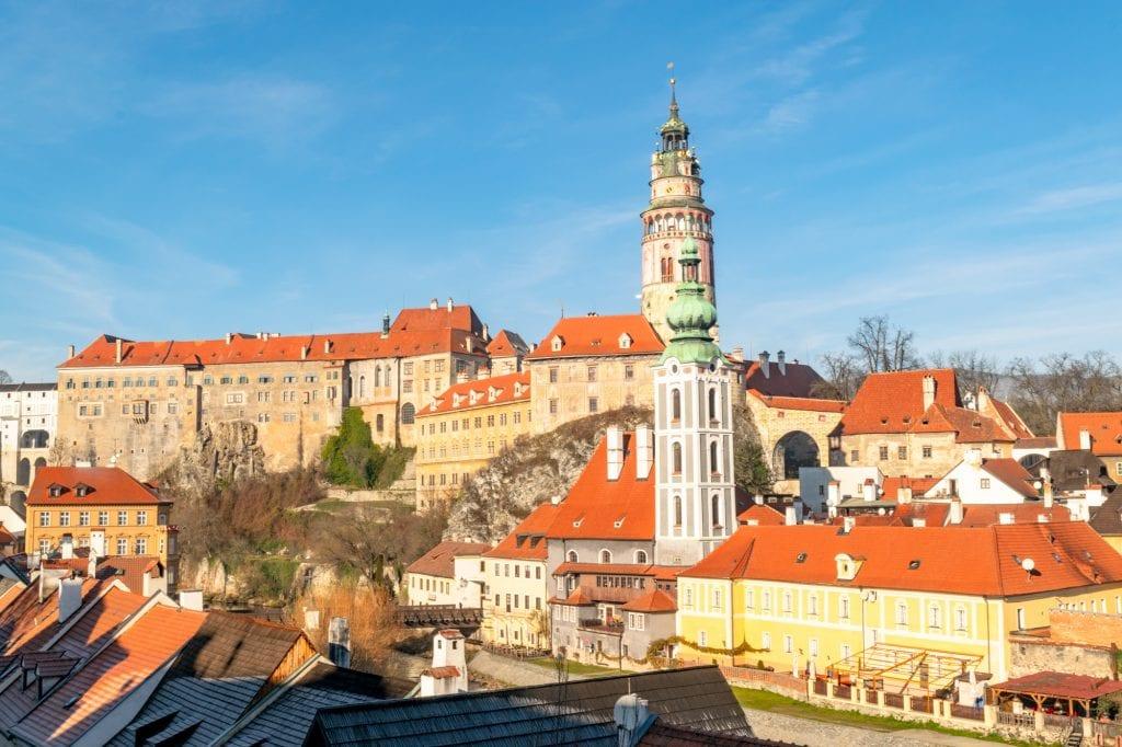 Vienna to Cesky Krumlov by Train: View of Cesky Krumlov Castle