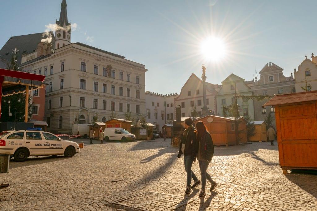 Český Krumlov in Winter: Svornosti Square