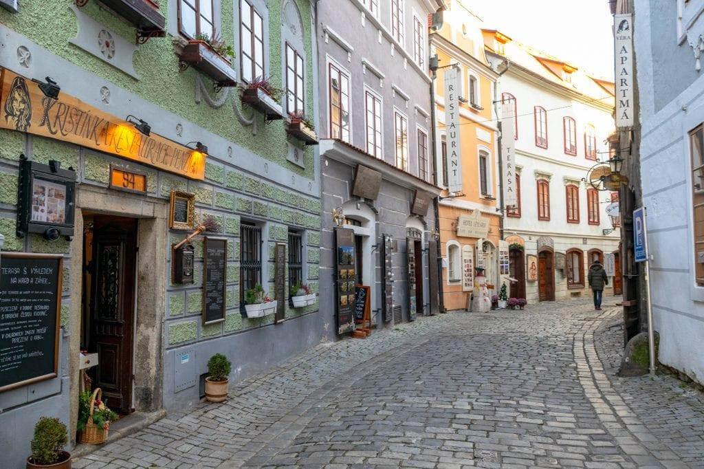 Winter in Český Krumlov: Colorful Streets