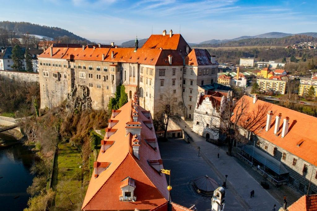 Český Krumlov in Winter: Castle