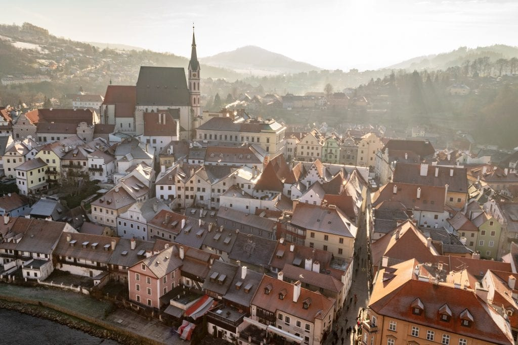 Winter in Český Krumlov: View of the City