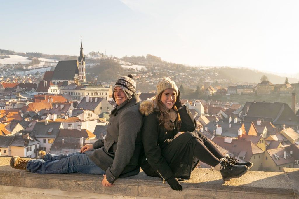 Couple in Cesky Krumlov