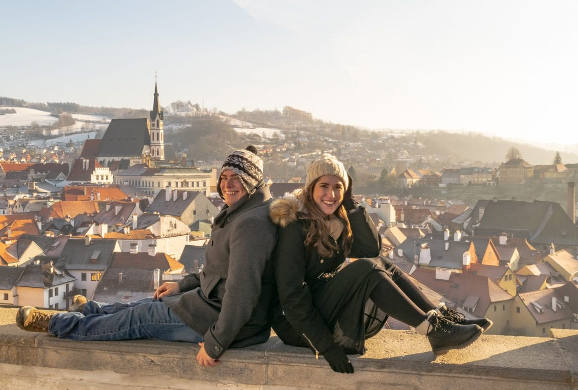 Couple at Cesky Krumlov