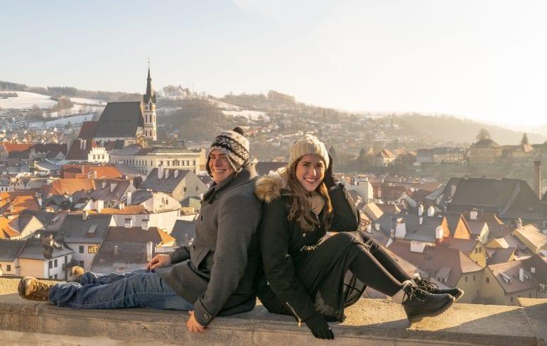 Couple at Cesky Krumlov