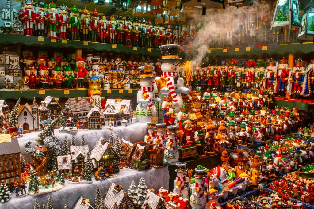 view of snowglobes and nutcrackers for sale salzburg austria