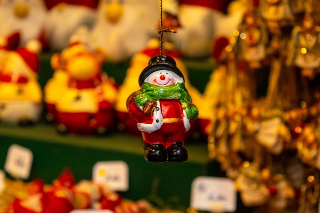 Austria Christmas Market Trip: Snowman ornament