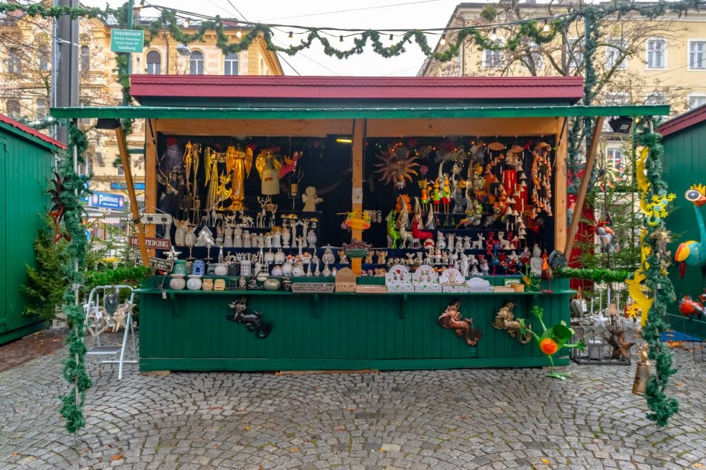 Winter in Salzburg: Christmas Market Booth