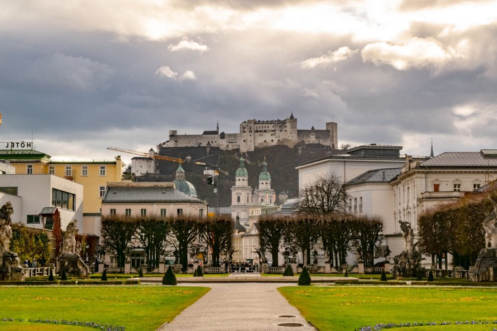 Salzburg in WInter: Mirabell Gardens