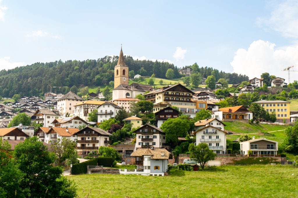 Village in South Tyrol Italy--one of the most interesting facts about Italy is that South Tyrol was not part of Italy until after WWI