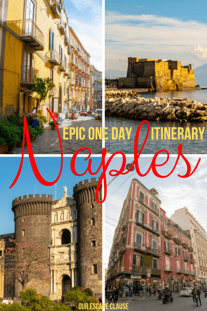 The Perfect One Day in Naples Itinerary: where to go, what to do, where to stay, and what to eat! #naples #italy #napoli #campania #travel #naplesitinerary