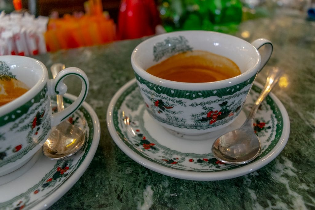 One Day in Naples Itinerary: Espresso at Caffe Gambrinus