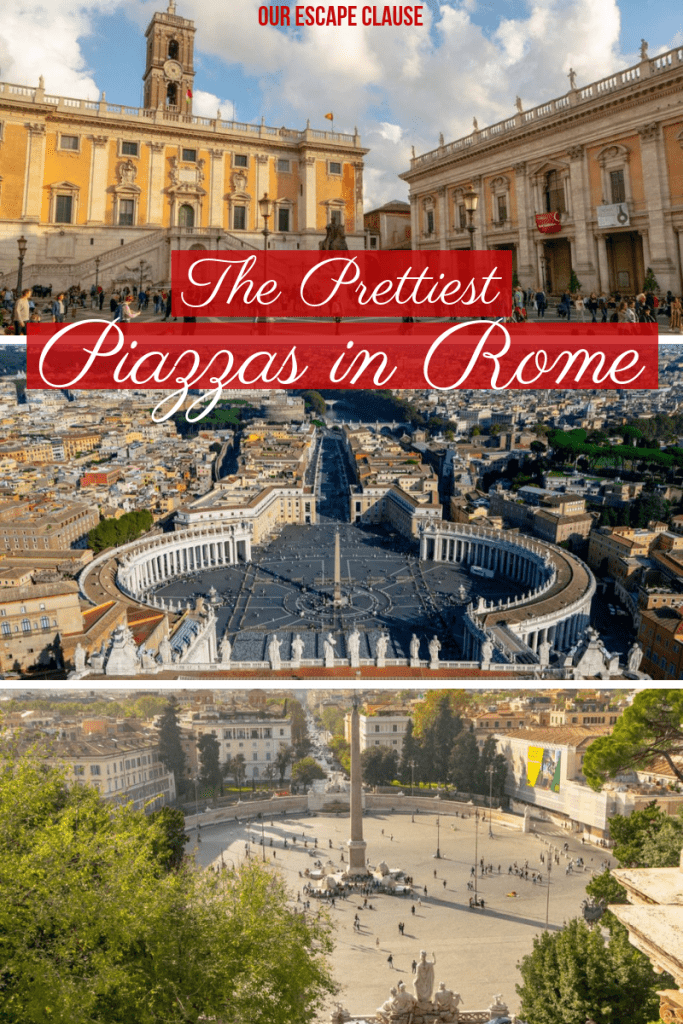 The Prettiest Piazzas in Rome... and how to find them! #rome #italy #travel #piazzas