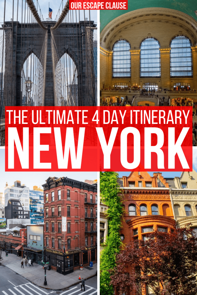 The Ultimate 4 days in New York itinerary: how to see iconic sights, beautiful neighborhoods, and world-class museums... plus where to eat along the way! #newyork #newyorkcity #nyc #manhattan #travel #newyorktravel #newyorkitinerary