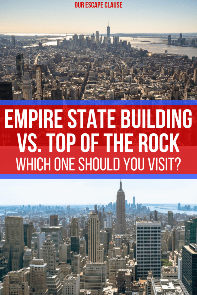 Empire State Building or Top of the Rock: which iconic NYC viewpoint should you visit! #newyork #newyorkcity #empirestatebuilding #topoftherock #nyc