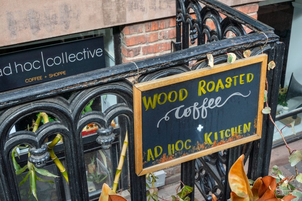4 Days in New York Itinerary: Sign for Coffee Shop