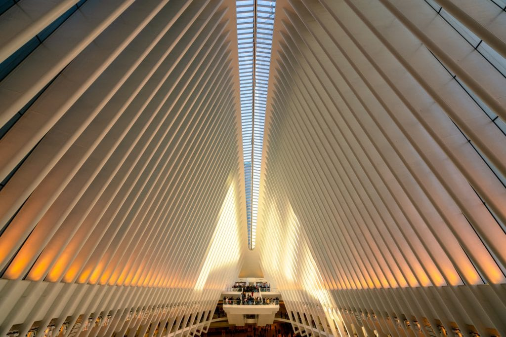 4 Day New York Itinerary: Interior of the Oculus
