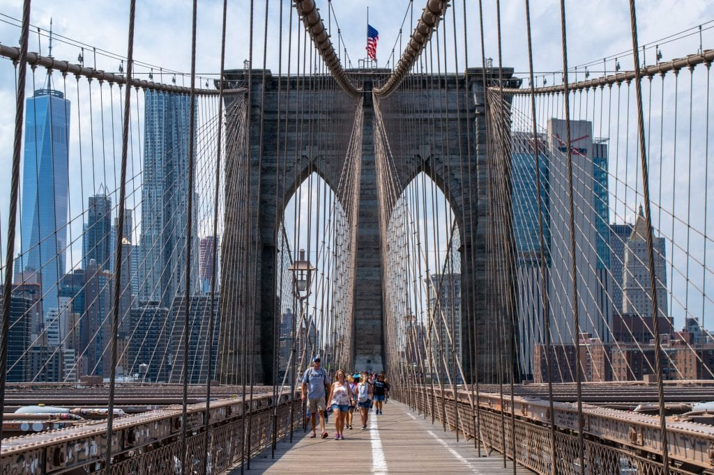 4 Days in New York Itinerary: Close up of Brooklyn Bridge