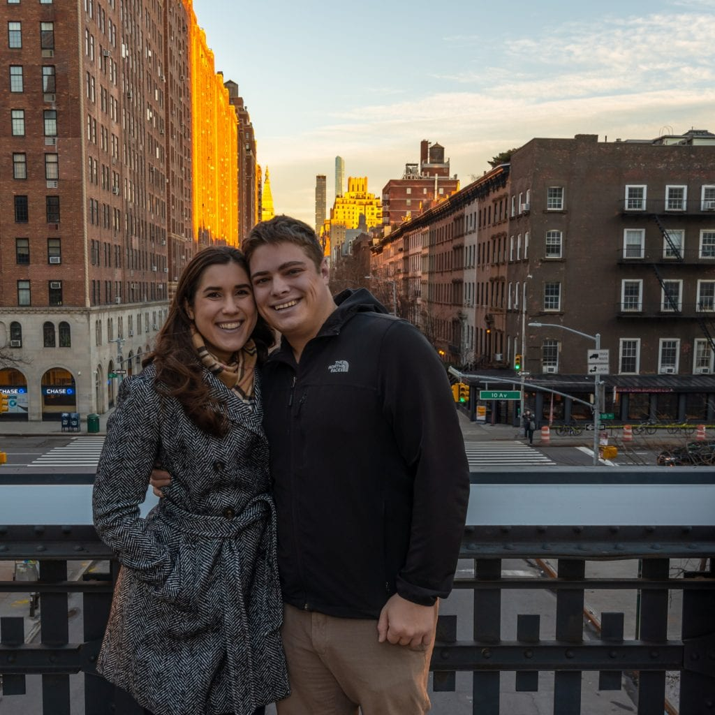 4 Days in New York itinerary: couple on high line
