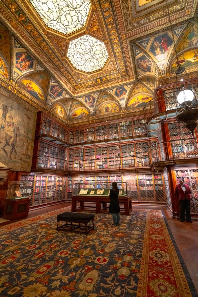 Photo of the interior of the Morgan Library--if you love books, definitely add this place to your list of things to do in Midtown NYC.